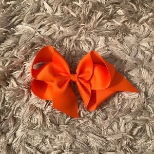 Lilly Pulitzer orange hair bow